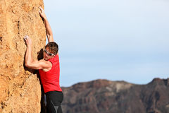 Climber climbing Royalty Free Stock Photo