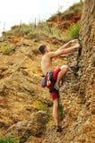 Climber climbing Stock Photo
