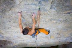 Climber climbs the rock. Stock Photography