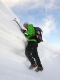 Climber on cornice Stock Images