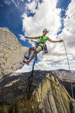 Climber on the edge. Stock Images