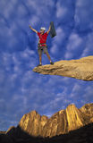 Climber on the edge. Royalty Free Stock Images