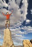 Climber on the edge. Royalty Free Stock Photos