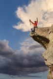 Climber on the edge. Stock Image