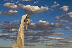Climber on the edge. Stock Photos