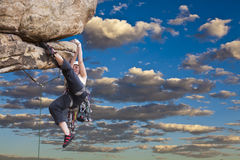 Climber on the edge. Royalty Free Stock Photography