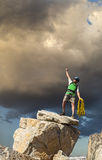 Climber on the edge. Stock Photo