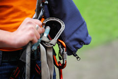 Climber with equipment Royalty Free Stock Photography
