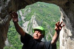 Climber falling Stock Image
