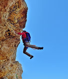 Climber fell from a cliff Stock Photo