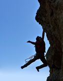 Climber  fell from a cliff Royalty Free Stock Image