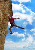 Climber  fell from a cliff Stock Photos