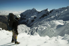 Climber on the glacier Stock Image