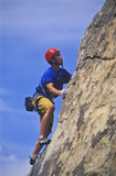 Climber going for it. Stock Photo