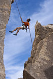 Climber going for the summit. Stock Photo