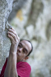 Climber grip Stock Photography