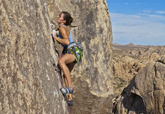 Climber gripping the rock. Stock Image