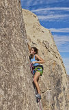 Climber gripping the rock. Royalty Free Stock Photo