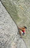 Climber gripping the rock. Stock Images