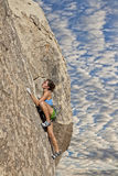 Climber gripping the rock. Royalty Free Stock Images