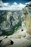 Climber on the Half Dome Stock Photos