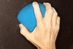 Climber hand and hold Royalty Free Stock Photography