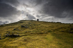 Climber in hill Stock Photography