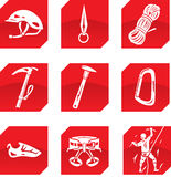Climber icons Royalty Free Stock Photo