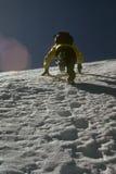 Climber kicking steps. Up steep snow face, , Sherpa peakCascadesWashington Royalty Free Stock Photos
