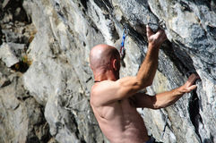 Climber man Royalty Free Stock Image