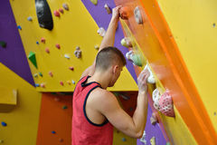 Climber Man Climbing Up Stock Photo
