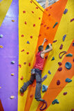 Climber Man Climbing Up Stock Images