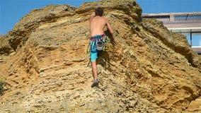 Climber Man stock video