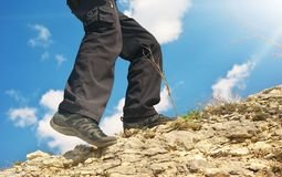Climber in mountain. Stock Image