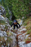 Climber on mountain Stock Photo