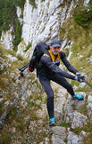 Climber on mountain Royalty Free Stock Images