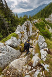 Climber on mountain Stock Photography