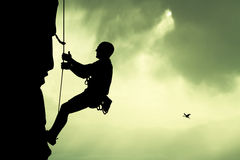 Climber on mountain Stock Image