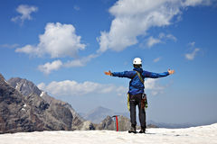 Climber in the mountains Royalty Free Stock Photo