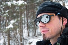 Climber portrait stock photography