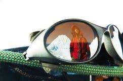 Climber reflection Royalty Free Stock Image