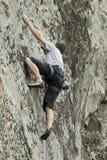 Climber on the rock. Shot taken during Rimetea Climbing Open (RICO) 21-21 april 2012 Royalty Free Stock Images