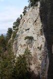 Climber on rock, Gebirgsvereinsteig, Hohe Wand Royalty Free Stock Images