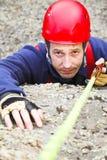 Climber with rope Stock Photos