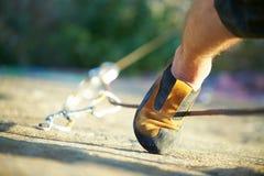 Climber's foot Stock Photos