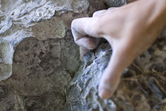 Climber's hand Stock Photos