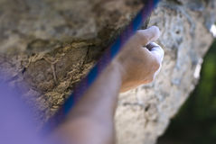Climber's hand Royalty Free Stock Photography