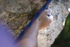 Climber's hand Royalty Free Stock Photography
