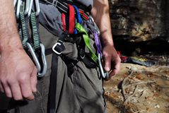 Climber's Waist Stock Photo