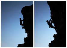 Climber silhouette Royalty Free Stock Photos